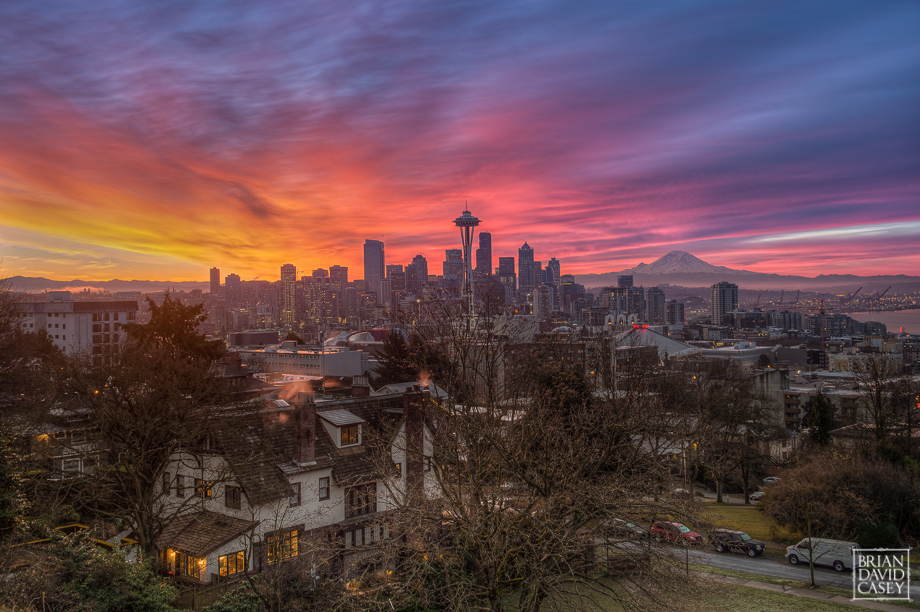Seattle Cityscape at Sunrise