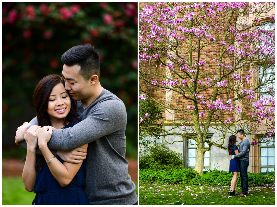 UW Cherry Blossoms Engagement Session-09