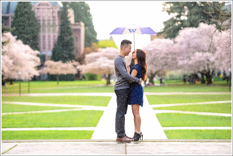 UW Cherry Blossoms Engagement Session-01
