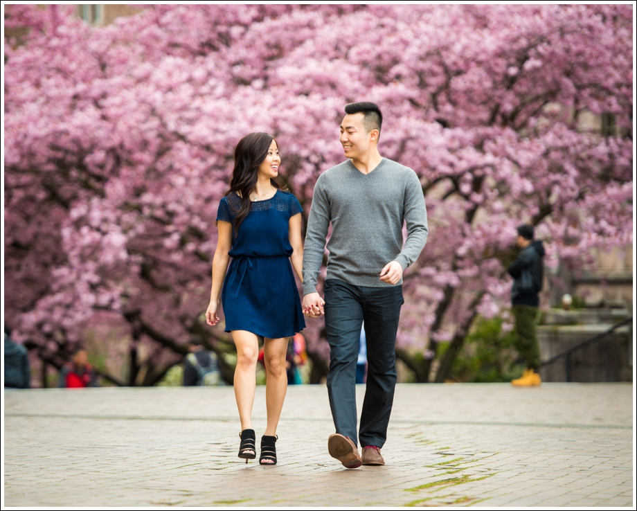 UW Cherry Blossoms Engagement Session-06