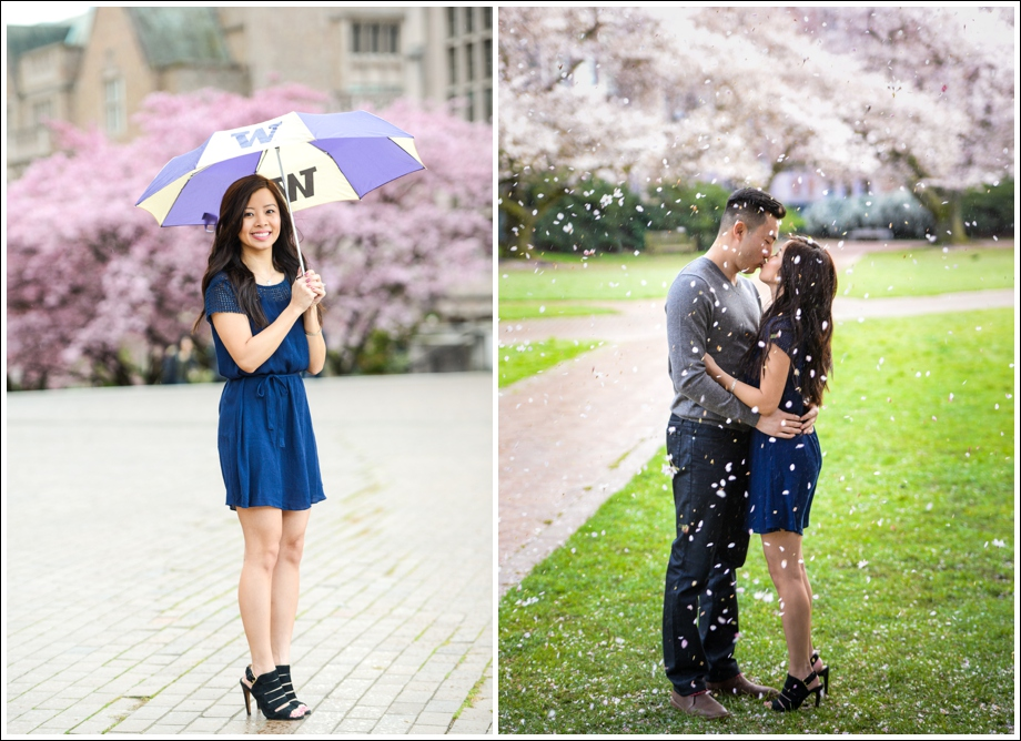 UW Cherry Blossoms Engagement Session-07