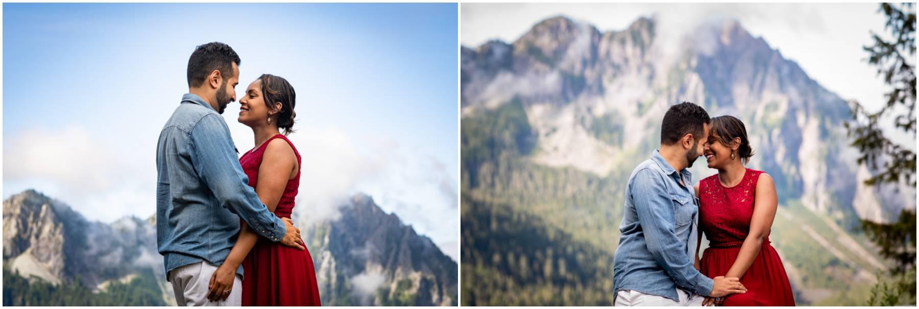 Mt. Rainier engagement photo.